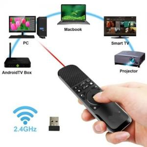 China Silver Wireless Air Mouse Presenter , PPT Remote Clicker For Multi Media on sale