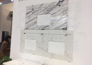 China Volakas White Engineered Stone Vanity Tops 22 X 37 X 3/4  For Bathroom on sale