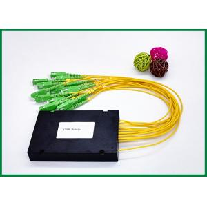 China 16CH 1 Fiber CWDM Mux Demux Optical Filters Equipment WIth SC FC LC Connectors on sale