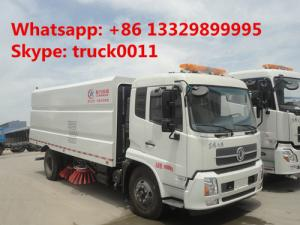 China hot sale dongfeng tianjin street sweeper truck(3cbm water tank+7.2cbm dust bin), best price road cleaning truck for sale supplier