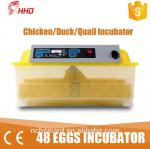 China 2016 top selling 1 Year warranty CE passes Automatic 48 chicken egg 132 quail bird mini egg incubator   for sale YZ8-48 wholesale
