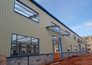 China Prefabricated Large Span Light Steel Space Frame Structure Workshop on sale