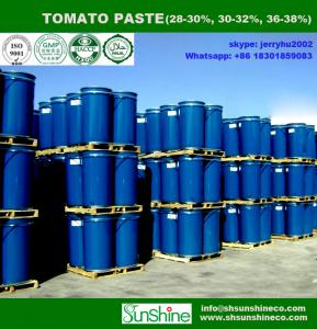 China Supply high quality drum 28-30% brix tomato paste in steel drum 100% fresh tomato on sale