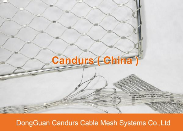 Flexible And Durable Stainless Steel Wire Diamond Mesh For Security ...