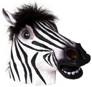 China Youtumall Latex Animal Mask - Zebra Head Mask Cosplay on sale
