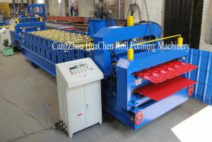 China Roof Tile Double Layer Roll Forming Machine Metal Wall , Color Steel Plate on sale