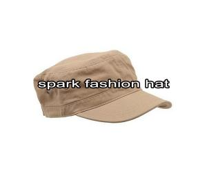 Quality Flat top khaki cotton twill army cap for man for sale
