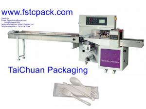 China automatic spoons packing machine , plastic spoons , wooden ,spoon packaging machinery on sale