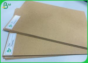 China 200g - 400g Unbleached Kraft Board Natural Brown Craft Street Food Package Paper on sale