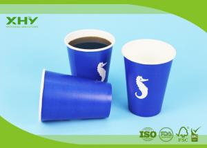China Factory Outlets Disposable Paper Cup, Cold Drinks, 400 ml (12 oz.), Blue (package 50 each) on sale