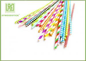 China Les décorations uniques de partie font la fête les pailles de papier 50pcs biodégradable/sac on sale