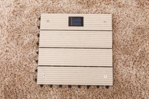 China DIY Garden WPC decks Tile With Solar Light on sale