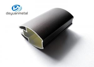 China Black Anodized Aluminium Profile For Living Room ,  Mill Finished Alloy 6063 on sale