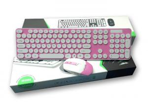 China Customized Layout 2.4G Backlit Wireless Keyboard And Mouse Combo Pink Color on sale