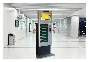 China Patent Design Cell Phone Charging Stations , Mobile Phone Charging Kiosk with Wifi on sale