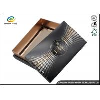 Black Customizable Wine Gift Packaging Cardboard Paper Drawer Box