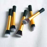 Pink Golden Cosmetic Makeup Brush 5 Pcs Make Up Brush Set Synthetic OEM