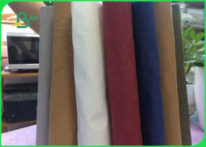 China Natural Washable Uncoated Kraft Paper Fabric 0.3mm - 0.8mm Thickness For Tote Bag on sale