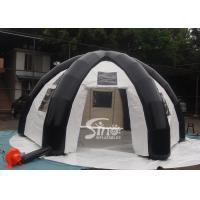 6 mts outdoor enclosed travel inflatable tent with movable velcro doors N clear windows