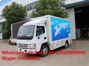 China HOT SALE! 2019 new mobile LED billboard advertising truck, best price KARRY Brand 4*2 LHD outdoor LED advertising truck on sale