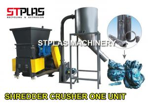 China Single Shaft Plastic Shredder Machine And Crusher In One Unit PLC Program Control on sale