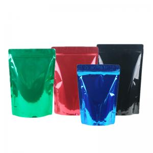 China Green Tea / Instant Coffee Packaging Bags , Coffee Pouch Bags Blue Green Black on sale