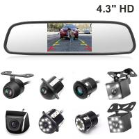 Auto Parking Reverse Camera Mirror PAL / NTSC Compatible Video System
