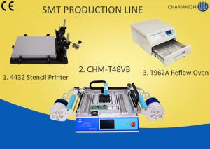 China 4432 Stencil Printer Smt Line Machine Chmt48vb Table Top Pick And Place T962A Reflow Oven on sale
