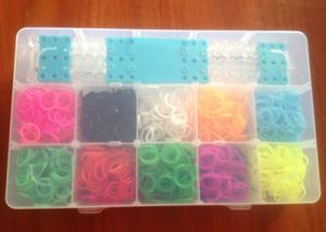 China Charming Silicone Wristband Bracelet 10 Colors Diy Rainbow Loom Band Kits on sale