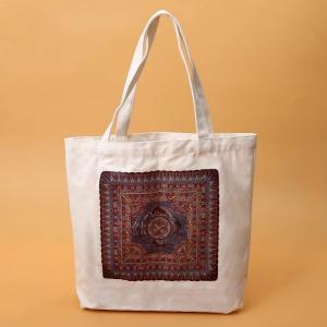 China Brown And White Branded Promotional Bags / Durable Promotional Items Bags on sale