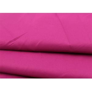 Pink Polyester Viscose Elastane Fabric , Durable Orange Polyester Lycra Fabric