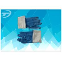 China Seamless Disposable Medical Gloves , Full Finger Powdered Latex Gloves on sale