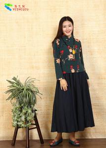 China Vintage Embroidered Cheongsam Blouse Short Length For Autumn And Winter on sale