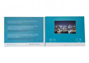 China 2017 new rechargeable video brochure card video greeting card with 7inch LCD display on sale