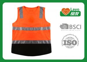 China Multi Function Traffic Safety Vest , Reflective Work Vest Quick Dry on sale