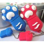 Cute Cat Claw Carton USB Flash Drive, PVC Gift Usb 2.0 Cartoon Usb Stick Bulk Cheap