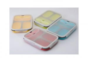 Quality Eco - Friendly Bpa Free Lunch Box Storage Containers Food Grade Silicone Material for sale