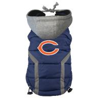 Personalized Chicago Bears Dog Puffer Vest Embroidered Logo Pet Pug clothes