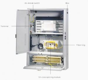 China Stainless Steel Outdoor Telecom Enclosure For CATV Equipment , FTTX Cabinet on sale