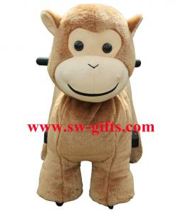 China Popular ride on furry motorized plush riding lovely kiddie ride toys supplier