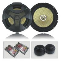 "6.5"" 2-way component kit speaker with honeycomb woofer cone"