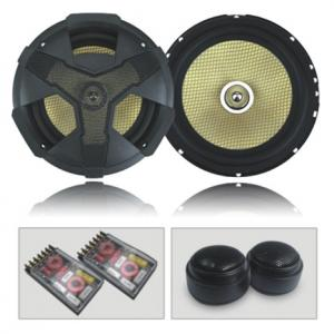China 6.5 2-way component kit speaker with honeycomb woofer cone on sale