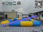 China Square Inflatable Water Pool / Strong PVC Tarpaulin Inflatable Pool For Kids wholesale