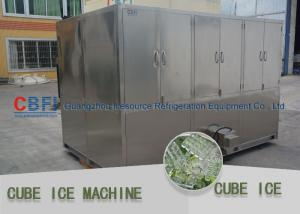 China Full Automatic Ice Cube Maker Machine Cube Ice Maker High Power Consumption on sale