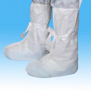 China White PP Disposable Shoe Covers , Non - Irritant Disposable Plastic Boot Covers on sale