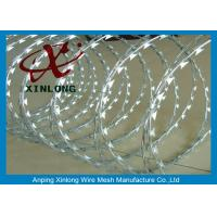 China Concertina Galvanized Razor Barbed Wire For Highway / Farm / Garden on sale