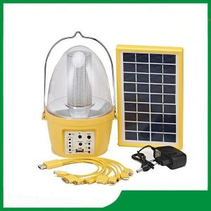 China Plastic led solar lantern with solar panel, mobile phone charger, FM radio function on sale