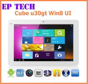 China 10 ips tablet pc Win8 UI RK3066 dual core 1.6GHz Android 4.0 Cube U30GT HDMI dual camera  on sale