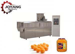 China Twin Screw Extruder Cheese Balls Puffed Corn Snack Making Machine With High Effiency on sale