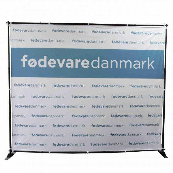 Heavy-Duty Step and Repeat Backdrop Telescopic Banner 10/' Stand Adjustable US